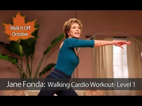 Jane Fonda: Walking Cardio Workout : Level 1 is a one mile waist-slimming walking workout that is designed to boost metabolism, burn fat, build lean muscle, and stretch the joints through a continuous series of heart-pumping aerobic exercises that can be done anywhere. Hollywood Icon and Legendary Fitness Guru, Jane Fonda takes you through this ...