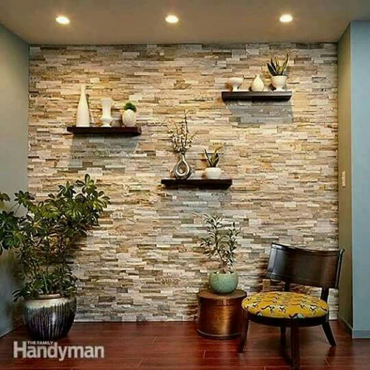 what a nice & cool space in your otherside of the house. i want this decorative bricks in the wall..beautiful❤