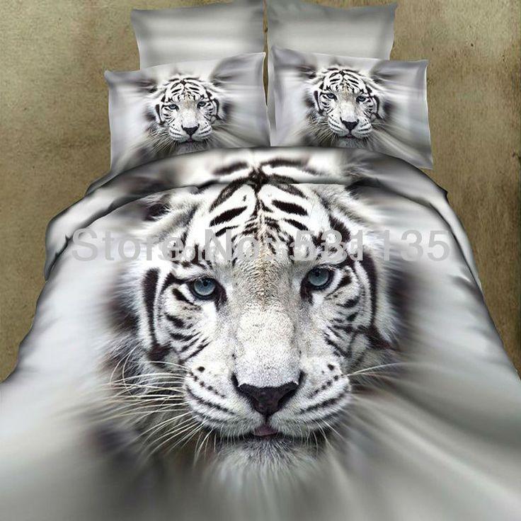3d тигр животные постельного белья 4 шт. 100% хлопок одеяло одеяло одеяла постельное белье покрывает льняные простыни покрывало покрывало наволочки