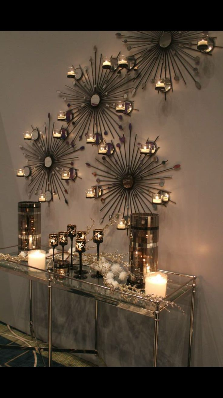 Starburst wall candle sconces interior design ideas Home interior sconces