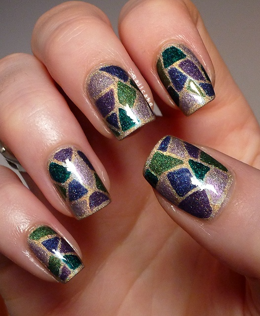 Nail Cake A England Kiko Stained Glass Nail Art: 1000+ Images About Stained Glass Nail Art On Pinterest