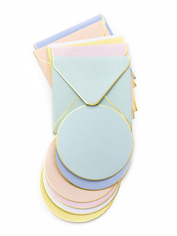 Pastel circle notecards