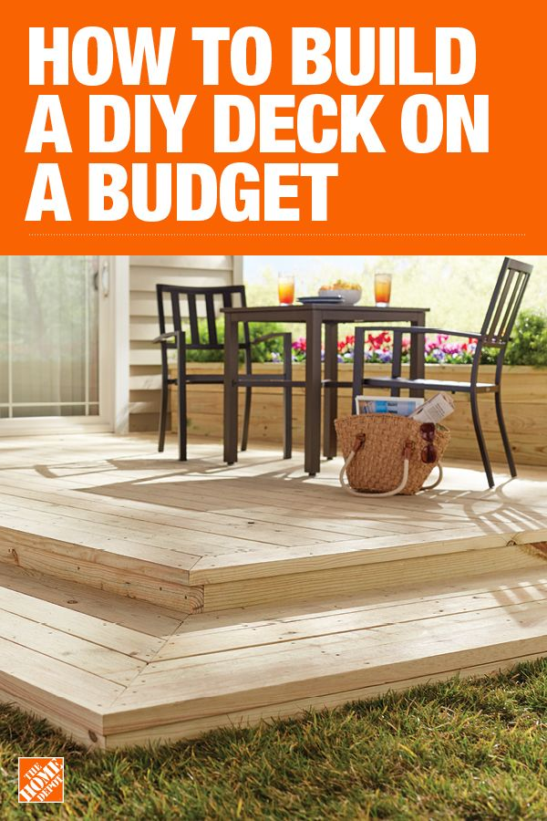 How To Build A Simple Diy Deck On A Budget Diy Deck Backyard Home Improvement Projects