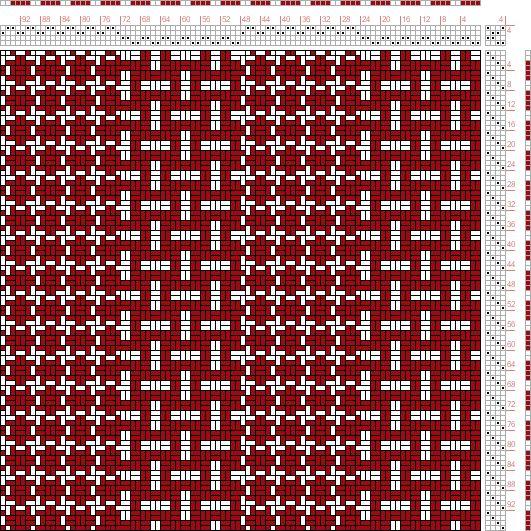 Hand Weaving Draft: Figure 1749, A Handbook of Weaves by G. H. Oelsner, 4S, 4T - Handweaving.net Hand Weaving and Draft Archive