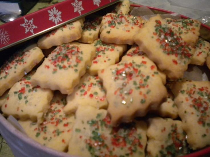 Lemon Thyme Shortbread cookies for Christmas