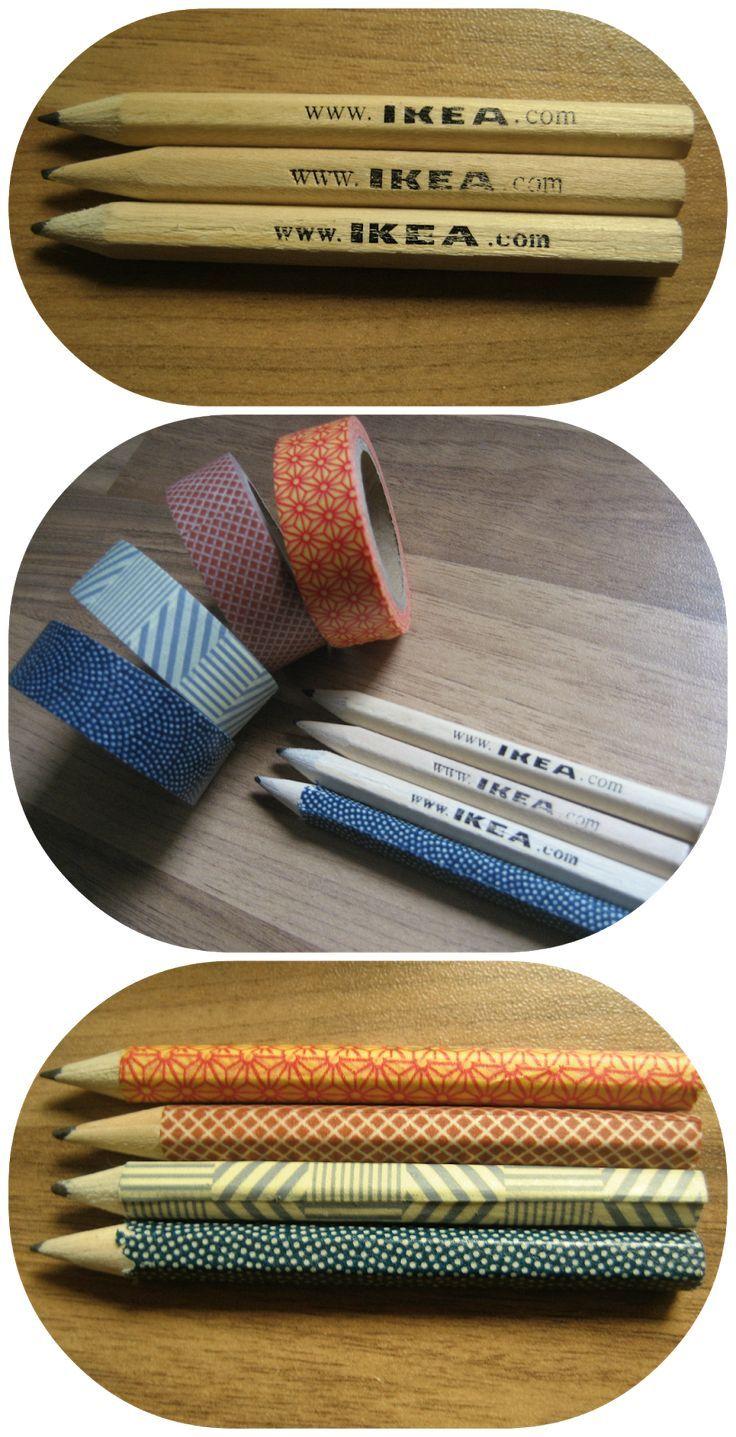 Quand nos crayons ordinaires deviennent… Extraordinaire avec du ruban adhésif #IKEA #DIY