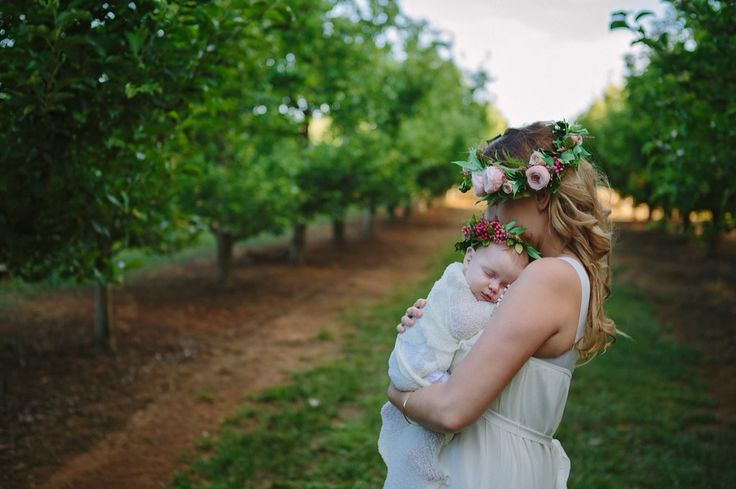 {Preserved Blooms} Mother and Child Flower Crown  Image: Sandie Mallon Photography