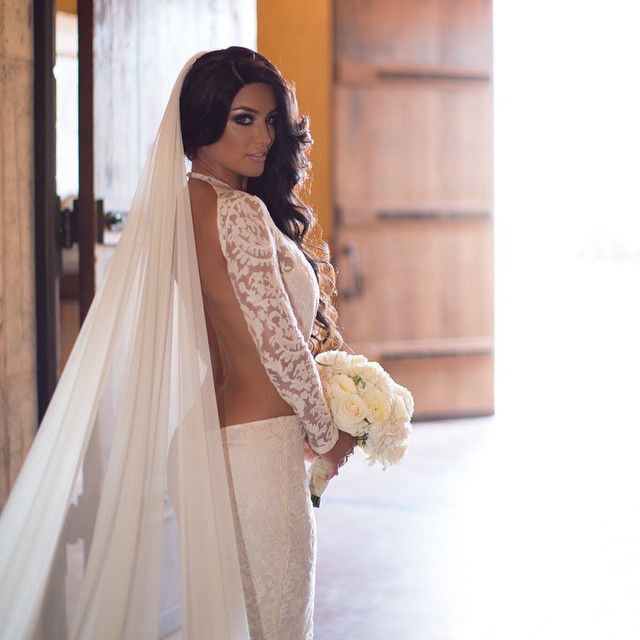 Beautiful Bride from Dolled Up Divas  Eva Marie shows off her natural hair color at her wedding.