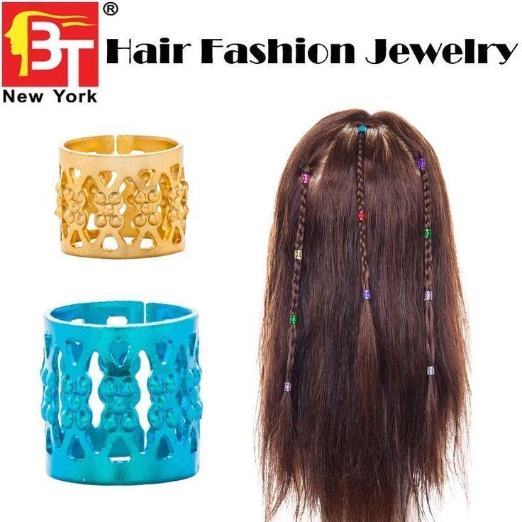 5.60$  Watch now - http://viqlw.justgood.pw/vig/item.php?t=2vnndv36265 - 12 PCS Beauty Town Vadesity Dredlock Rasta Braid Hair Beads Cuff Tube Clip 5.60$