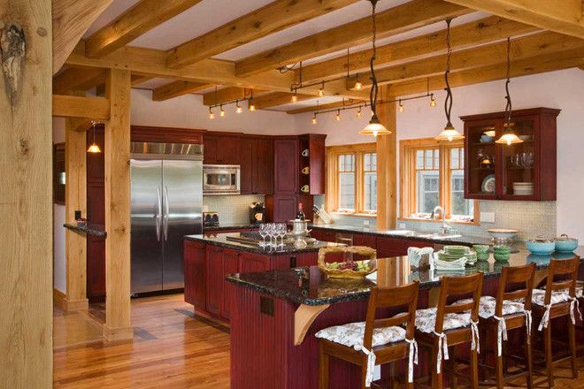Timber Home Kitchens Purgatory Timber Frame Kitchen