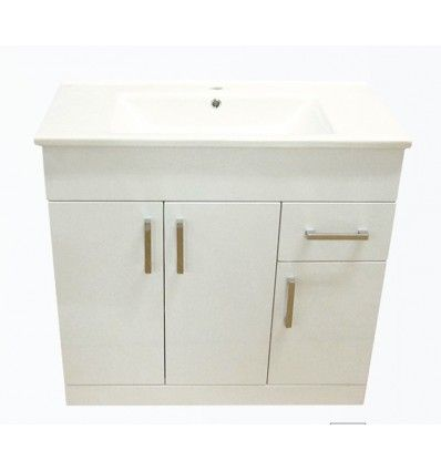 The Arte 800mm Two Doors and Two Drawers Floor Standing Vanity Unit is the perfect blend of form and function, with a beautiful ceramic basin sit on top an elegant unit. UK Manchester Liverpool Vanity Unit Selection