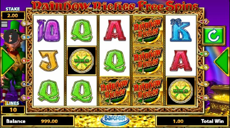 At the deposit-less Rainbow Riches free spins fruit machine , by Barcrest, you will experience not just the great excitement, but many rainbow prizes waiting to be accomplished. #slots #jackpot #freegame