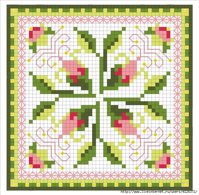Cross-stitch biscornu ... no color chart available, just use the pattern chart as your color guide.. or choose your own colors...    Gallery.ru / Фото #152 - Игольницы - elena-555