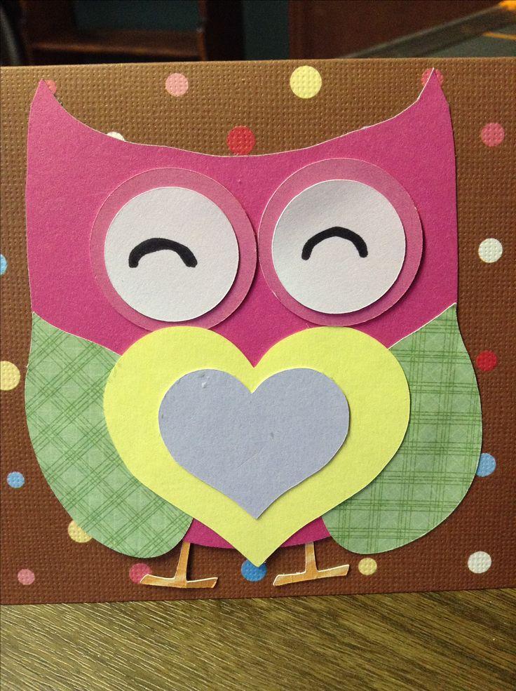 Valentines Card made for my niece.  #owls #Valentines #Birthdays #Girls #hearts #love #cute