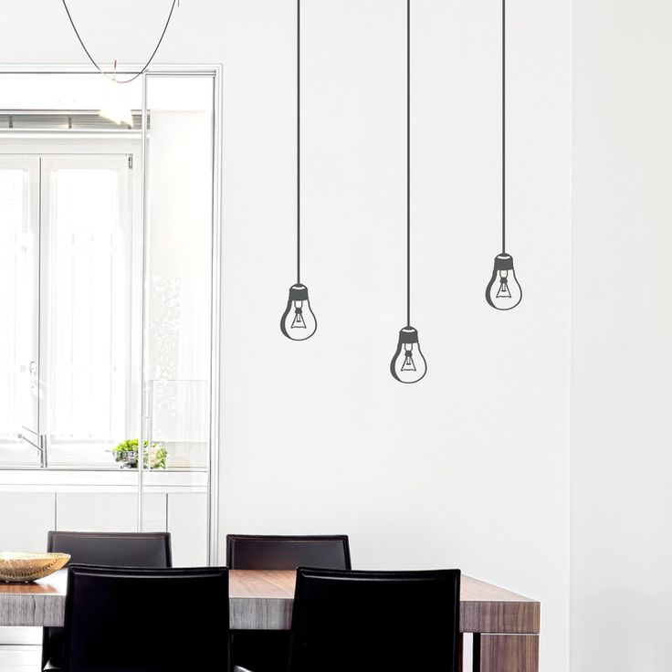 Hanging Lamp Wall Sticker: 1000+ Ideas About Hanging Light Bulbs On Pinterest