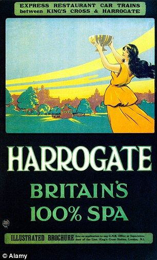 The Yorkshire town is famous for its water, advertised here in a poster from 1921