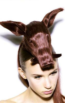 Now that is a statement hairstyle lol