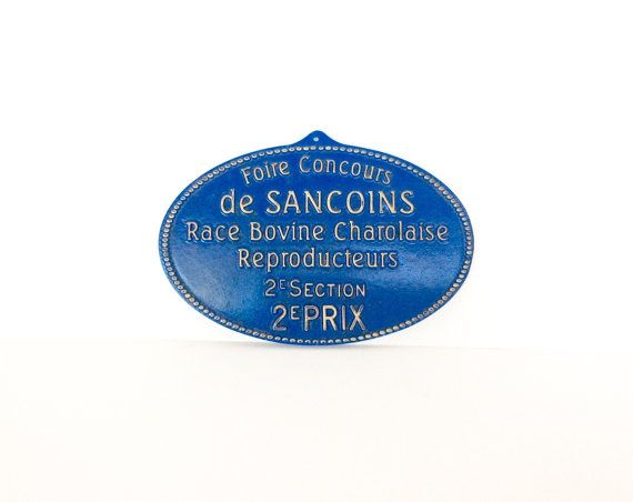 French prize sign. Agricultural prize sign. by SouthofFranceFinds