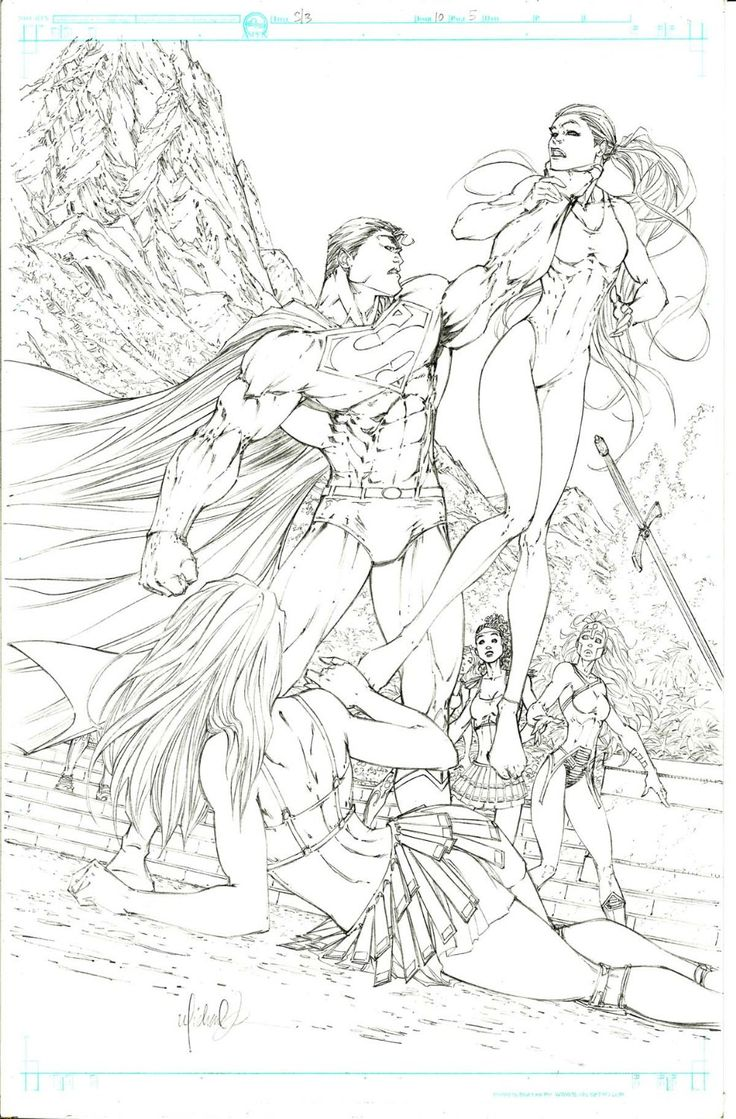 Superman Batman 10 pg 5 Michael Turner - W.B