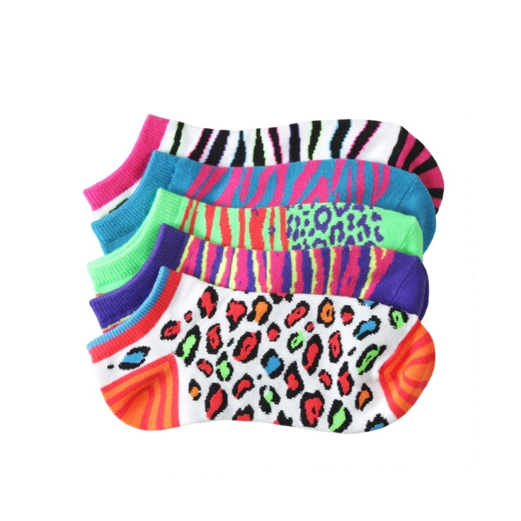 Crazy Neon Animal Print Socks