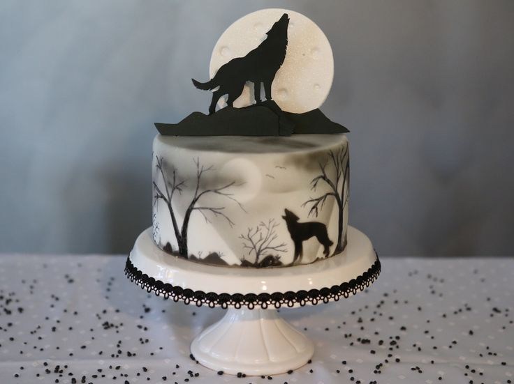 Wolf Cake Torte Halloween