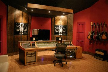 spyglass studio control room modern media room austin watermark company sd pinterest studios home and theater recording - Home Music Studio Design Ideas
