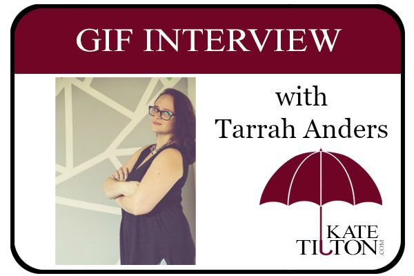Check it out, a new gif interview with author Tarrah Anders!