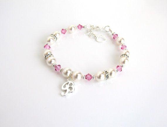 Girls Jewelry Personalized Birthstone Initial Charm ...