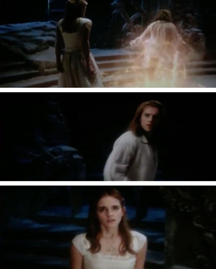 Belle meets her Prince as Adam, breaking the curse and his transformation from the Beast she fell in Love with.