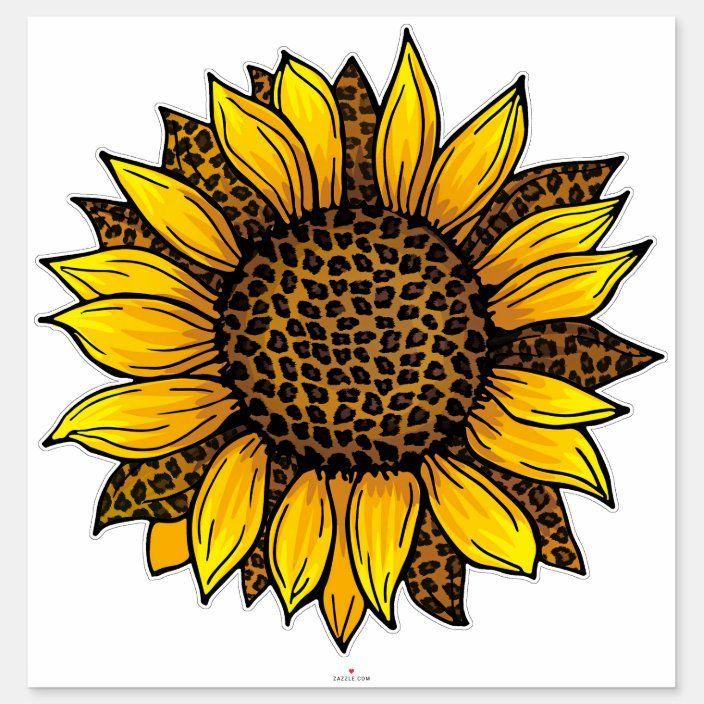 Leopard Sunflower Sticker Zazzle Com In 2021 Sunflower Images Sunflower Wallpaper Sunflower Pictures