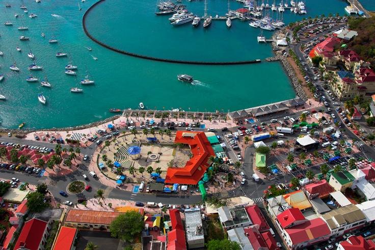 Philisburg, capital of the Dutch side of the island (Sint Maarten)