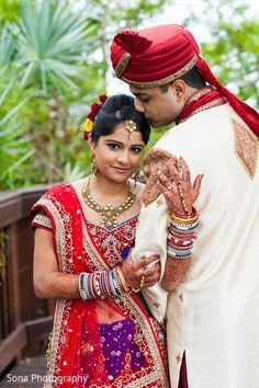 This Indian Bride And Groom Pose For Beautiful Wedding Portraits