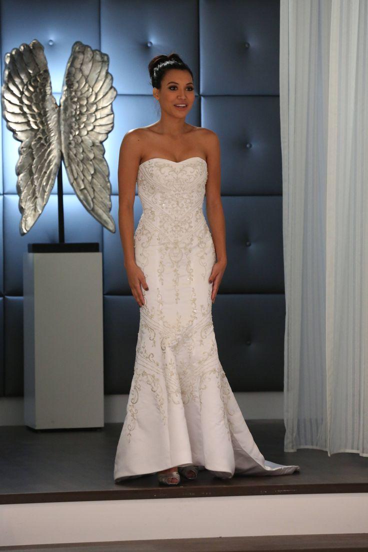 Santana Lopez In A Wedding Dress Naya Rivera