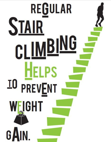 Did you know that stair climbing for only six minutes a day has the same fitness benefits as going for a 45 minute walk?