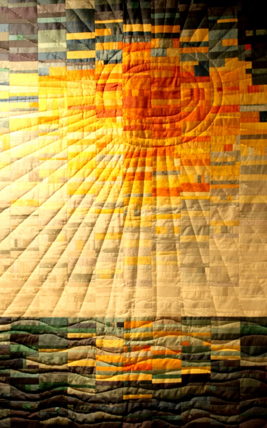 The quilting makes the quilt.