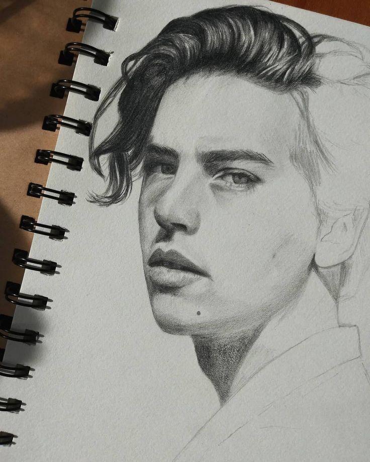 Catherine Feudin On Instagram Cole Sprouse Artprocess Art