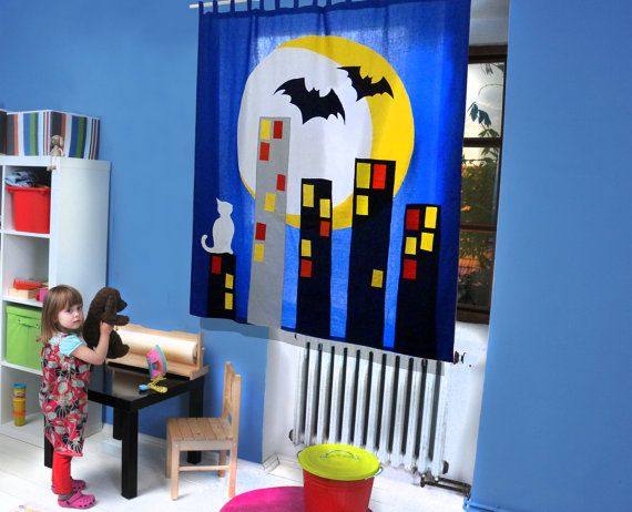 The CITY  CURTAIN for Kids and teenagers / children by dgmart