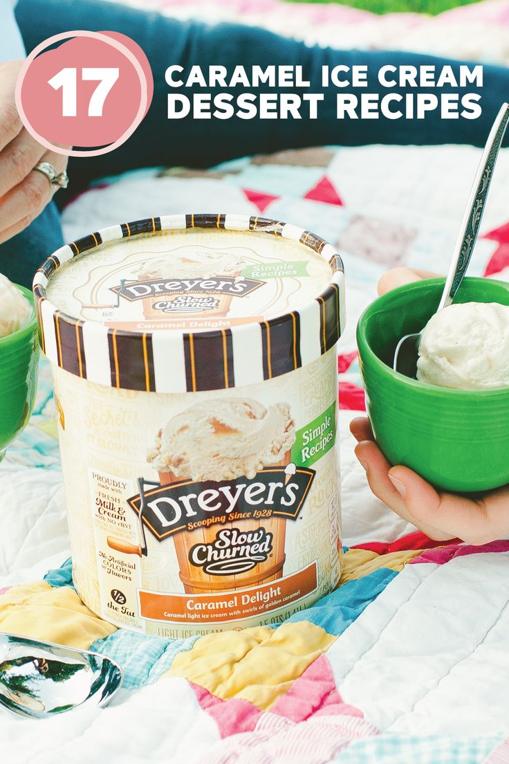 Your kids will have endless fun choosing which dessert to make from this collection of 17 Caramel Ice Cream Dessert Recipes. From Cinnamon Roll Ice Cream Pie to Frozen Pretzel Rod S'mores, there are so many recipes using Dreyer's Slow Churned Caramel Delight light ice cream that will take these summer treats up a notch.