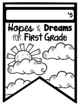 Want an easy way to display your hopes and dreams? This pennant banner is great for the beginning of the year, the first few weeks of school, and back to school night! {I'm hanging it in the hallway for the parents for BTSN!} This pack includes pennants for preschool, kindergarten, 1st grade, 2nd grade, 3rd grade, 4th grade, 5th grade, speech and language, physical therapy, and occupational therapy! (If I missed what you teach, message me and I'll add what you need!)PLUS, in addition to…