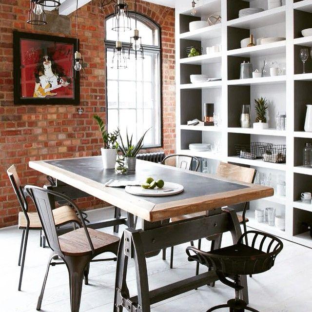«Небольшая лондонская квартира от Fine Edge Designs.  #дизайн #интерьер #столовая»
