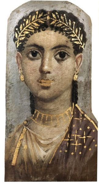 Unknown. Fayum mummy portraits is the name given to a large number of paintings from the first to third century. The surviving paintings are predominantly from the Fayum region in Roman Egypt
