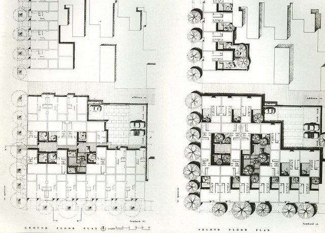 Addison Courts, Site Plan - 1965, Louis Sauer, Architect | Flickr - Photo Sharing!