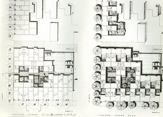 Addison Courts, Site Plan - 1965, Louis Sauer, Architect | Flickr - Photo Sharing!