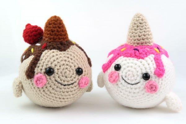 Amigurumi narwhal free crochet pattern | Amigurumi Space | 400x600