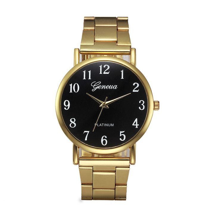 montre femme Fashion Geneva Watches Women Crystal Stainless Steel Analog Quartz Wrist Watch women watches bracelet watch ladies