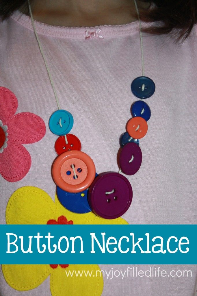 Button Necklace to go with Corduroy!