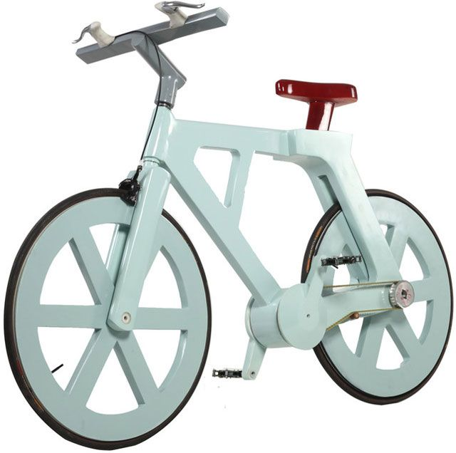 9-dollar cardboard bike is all business: completely recycled materials, ridiculously lightweight, can support close to 500 lbs.    Oh, and the thing is straight up ILL looking:  Trike,  Velocipede, Izhar Gafni, Support Rider, Recycle Cardboard, Cardboard Bicycles, Cardboard Bikes, Products, Design