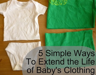 Feather's Flights {a creative, sewing blog}: 5 Simple Ways to Extend the Life of Baby's Clothing
