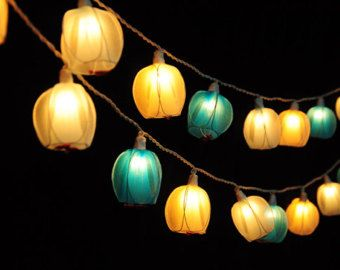 Best Flower String Fairy Lights Images On Pinterest Decor - Flower lights for bedroom