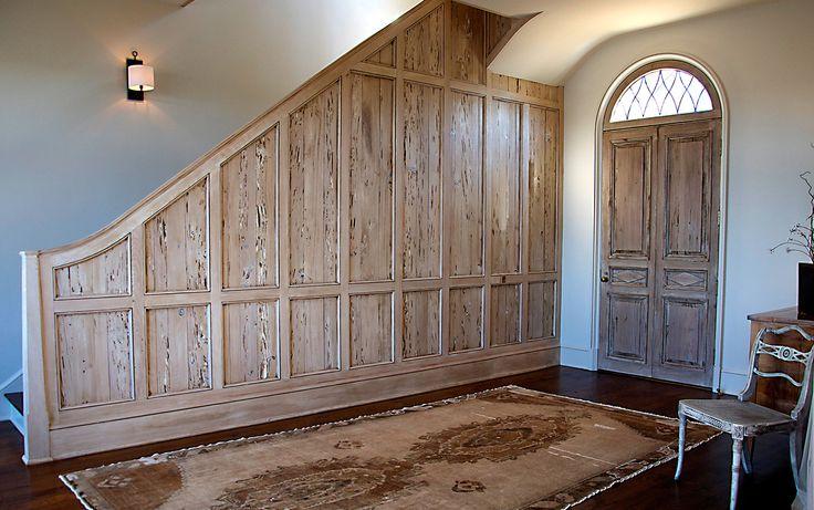 Grand Retreat - foyer paneling. Bates Corkern Studio